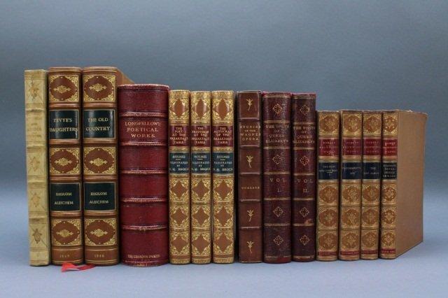 14 Vols: Browning, Holmes, Aleichem, Longfellow...