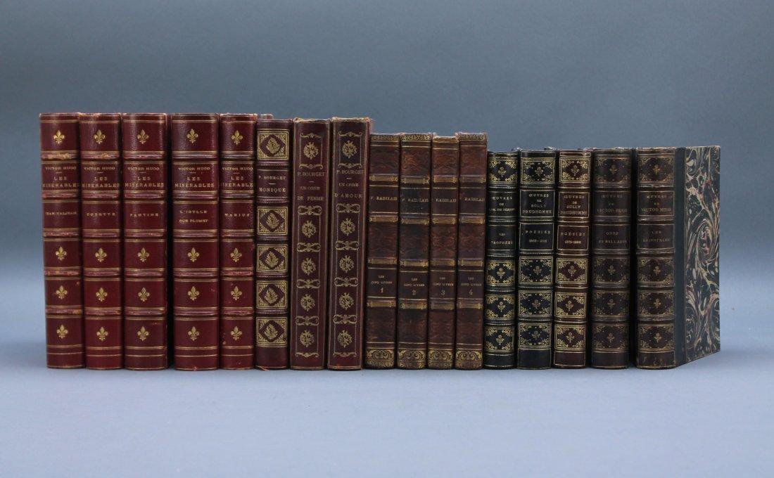 17 Vols: Victor Hugo, Rabelais, Prudhomme, others.