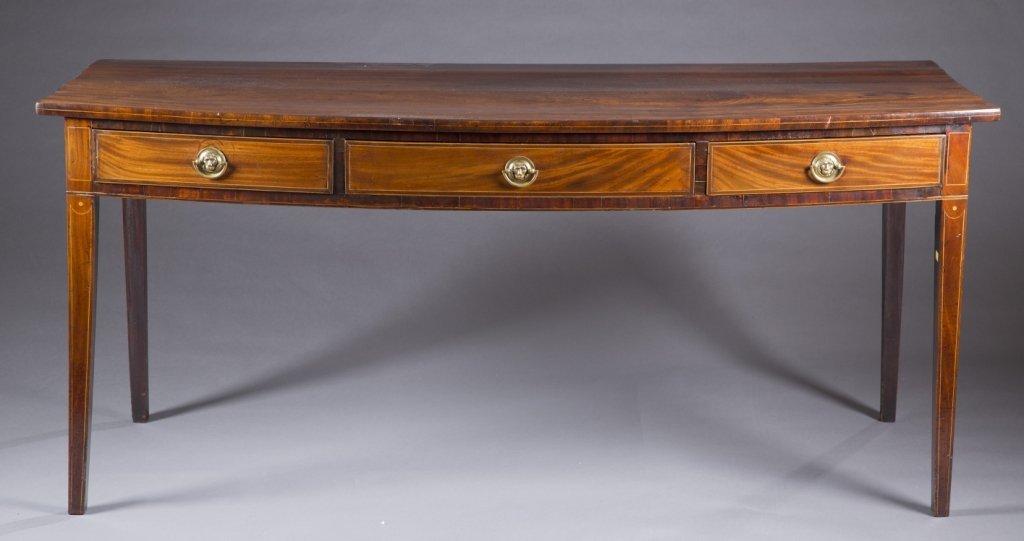 George III inlaid mahogany serving board.