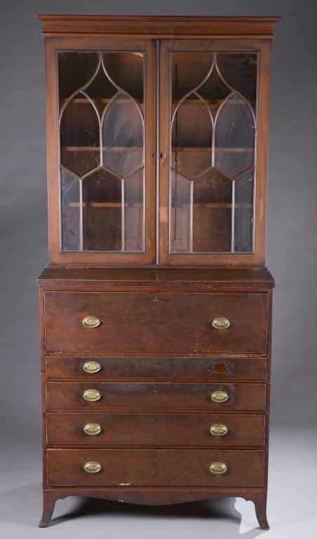 Baltimore Federal mahogany secretary desk .