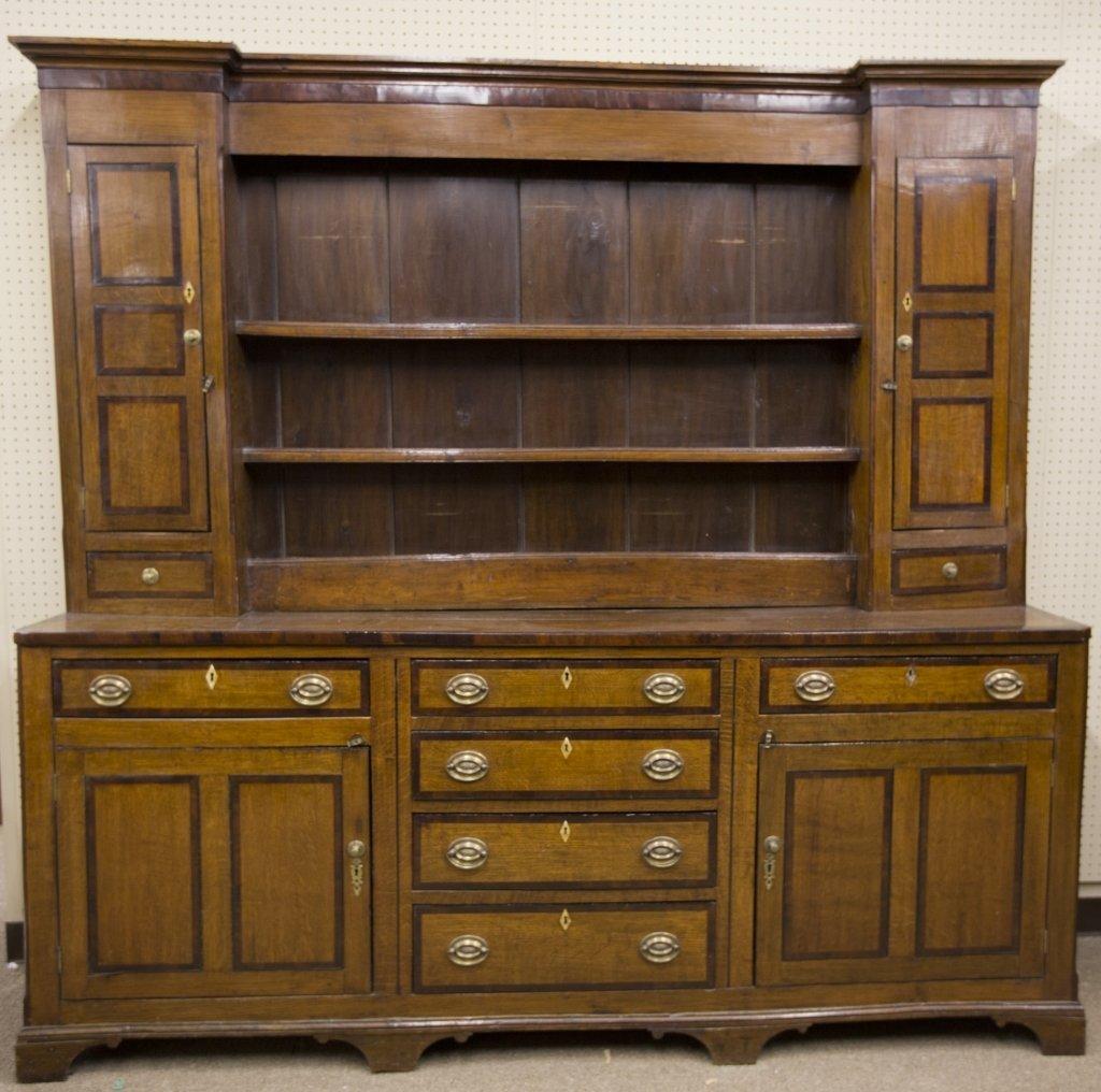 Large mahogany stepback cupboard.