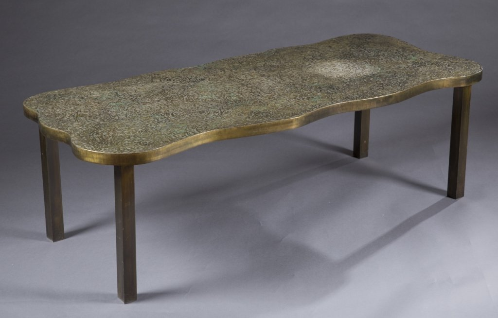 Laverne Etruscan spiral coffee table.