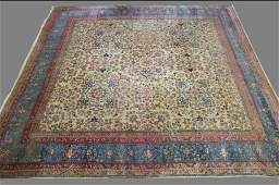 Persian Kerman room sized rug.