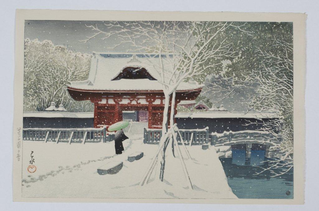 """Kawase Hasui """"Snow at Shiba Park"""""""