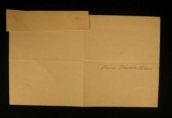 1: Holmes, Oliver Wendell (sr.) (1809-1894) A