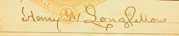 2: Longfellow, Henry W. (1807-1882) Poet & Ha