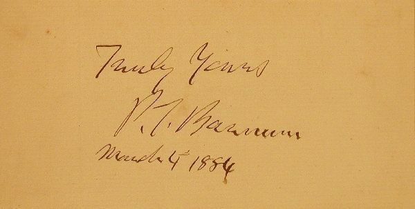 4: Barnum, Phineas T. (1810-1891) clipped sig