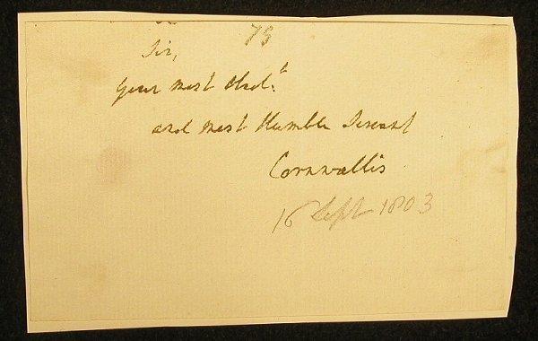 11: Cornwallis, Charles E. (second Earl of Co