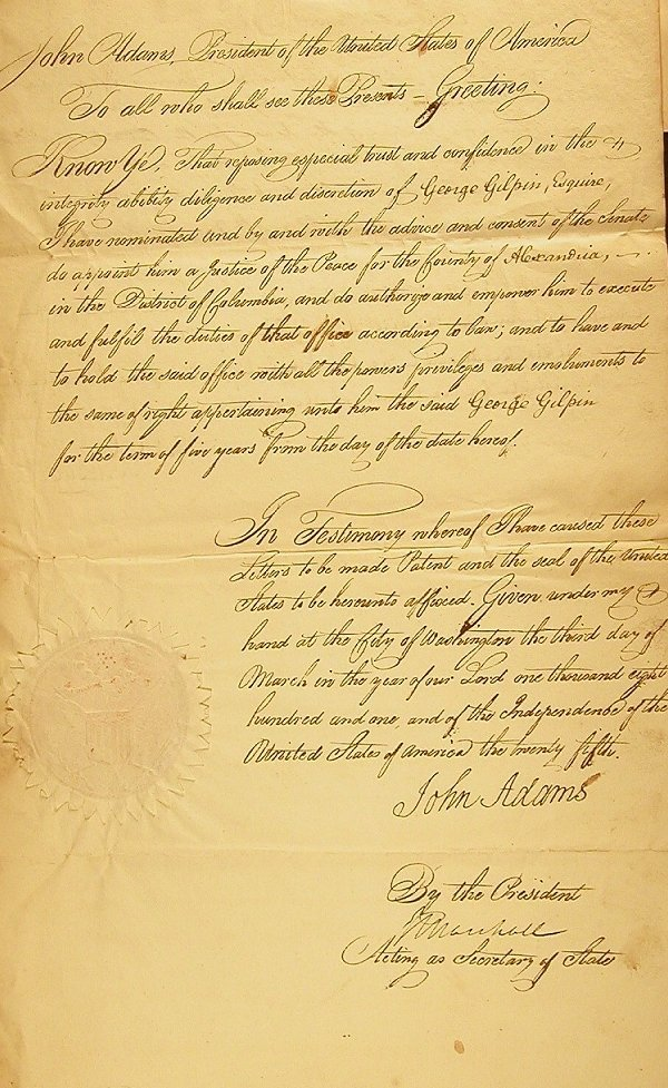 66: Adams, John (1735-1826) DS as president n