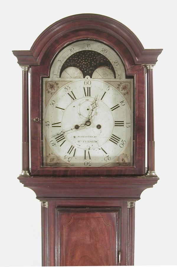 466: Federal Inlaid Mahogany Tall Case Clock
