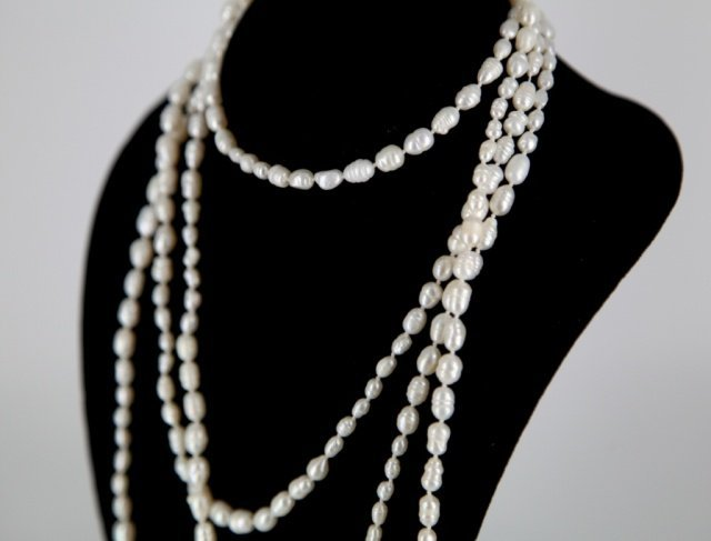 Group of fresh water baroque pearls.