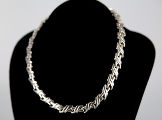 Italian sterling silver link necklace.