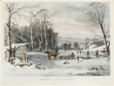 Currier and Ives Winter in the Country