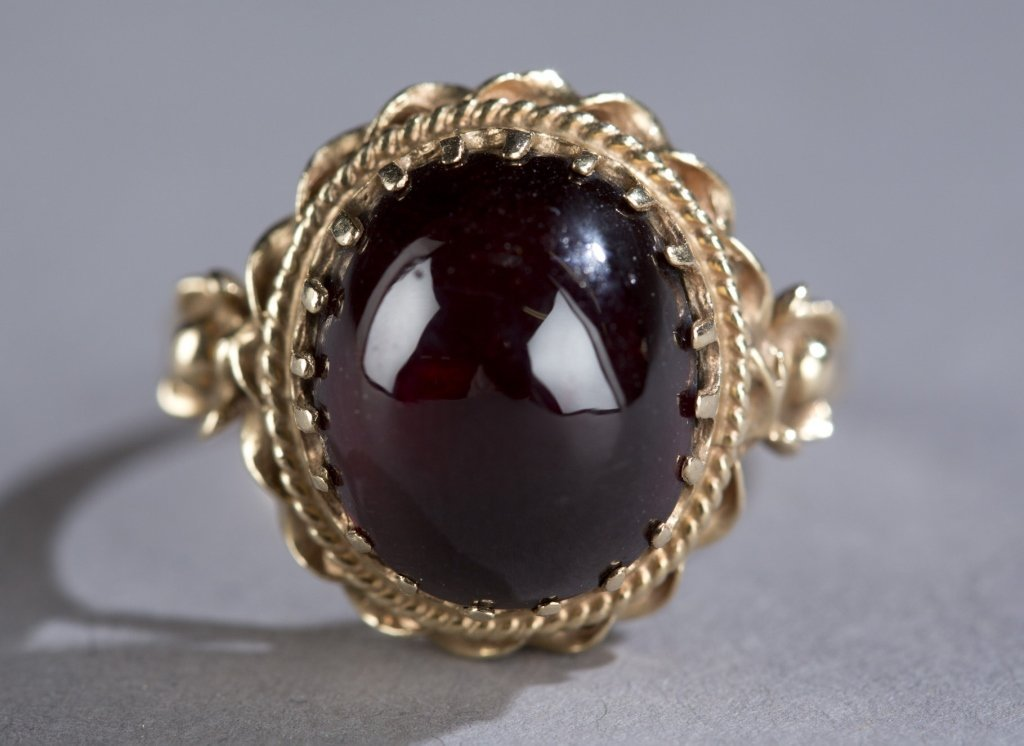 Ruby carbuncle ring.