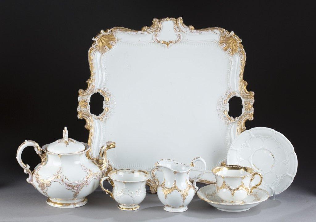 Meissen porcelain partial tea set.