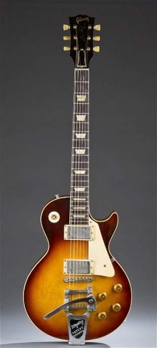 1960 Gibson Les Paul Sunburst electric guitar.