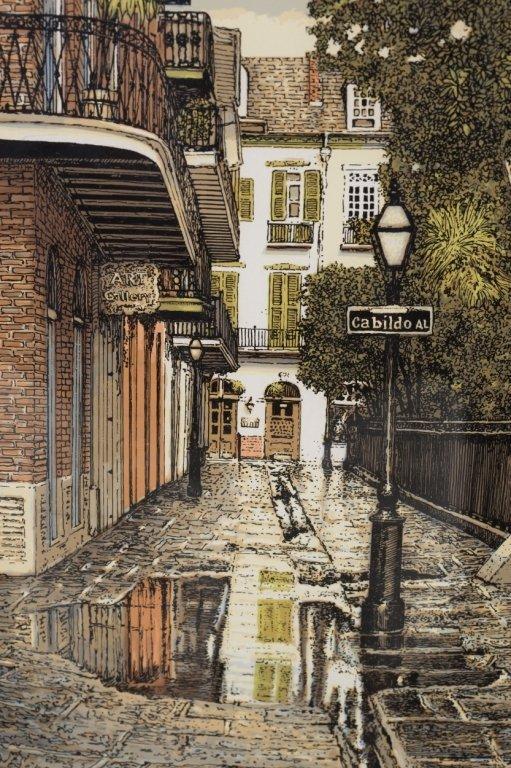 Paul De La Fille 3 Lithographs Of New Orleans Lot 413