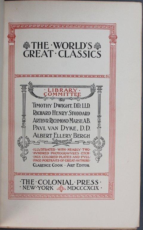 THE WORLD'S GREAT CLASSICS. 50 Vols. 1899-(c1901). - 2