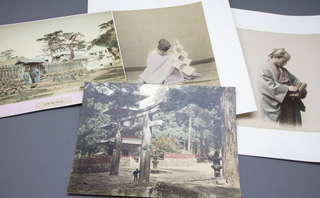 ~30 Items, incl handcol photographs of Japan.