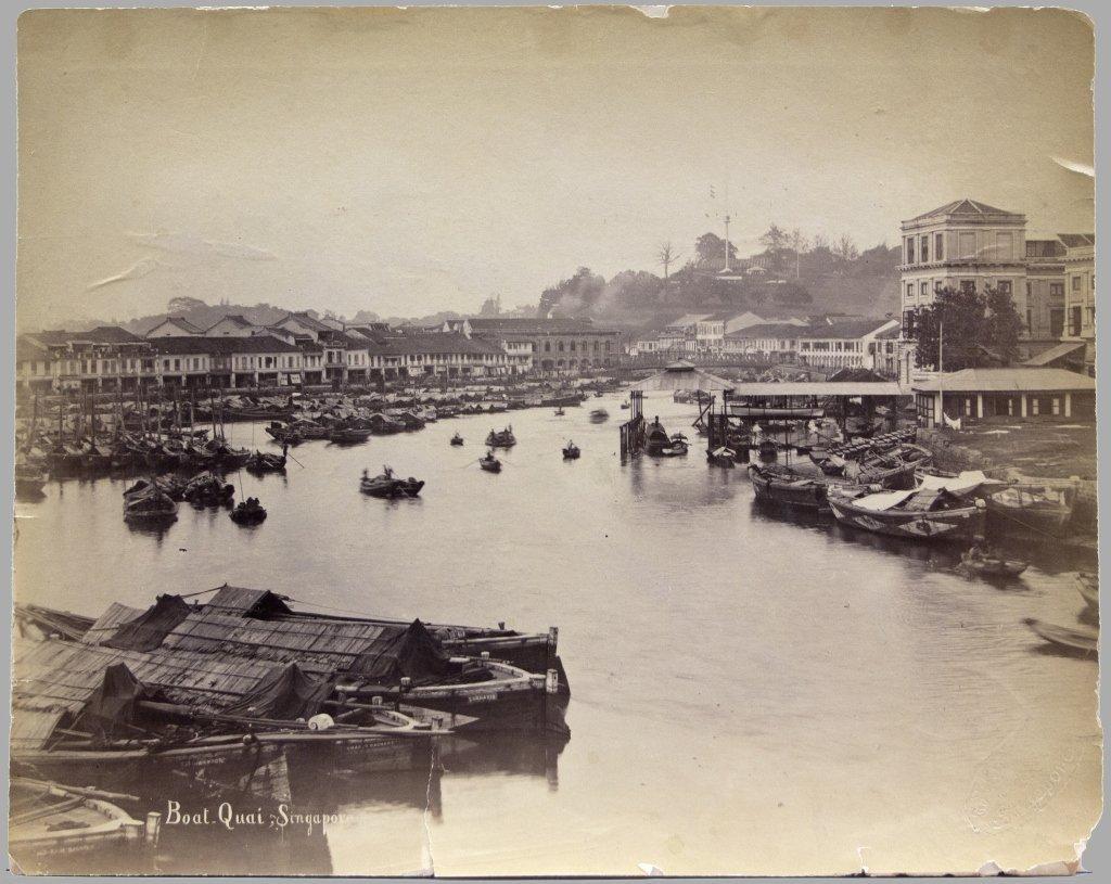 2 Items (4 Photos) incl Boat-Quai, Singapore.