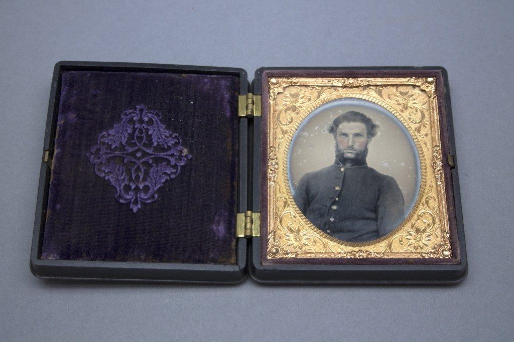 Civil War Soldier in Union Case.