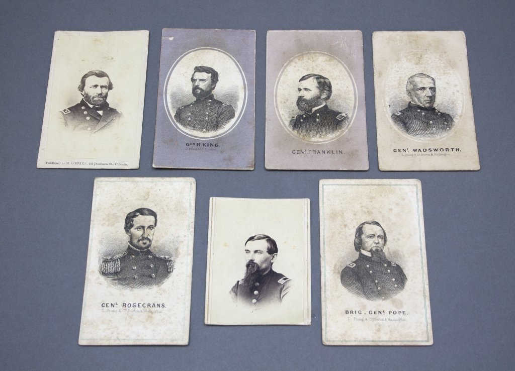 """14 CDVs of Union soldiers w/ """"Lincoln at Home"""""""