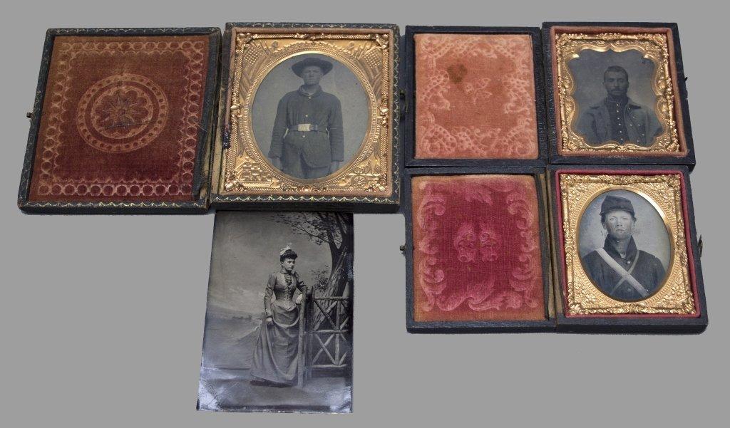 Civil War Soldiers: 4 photos w/ 1 identified
