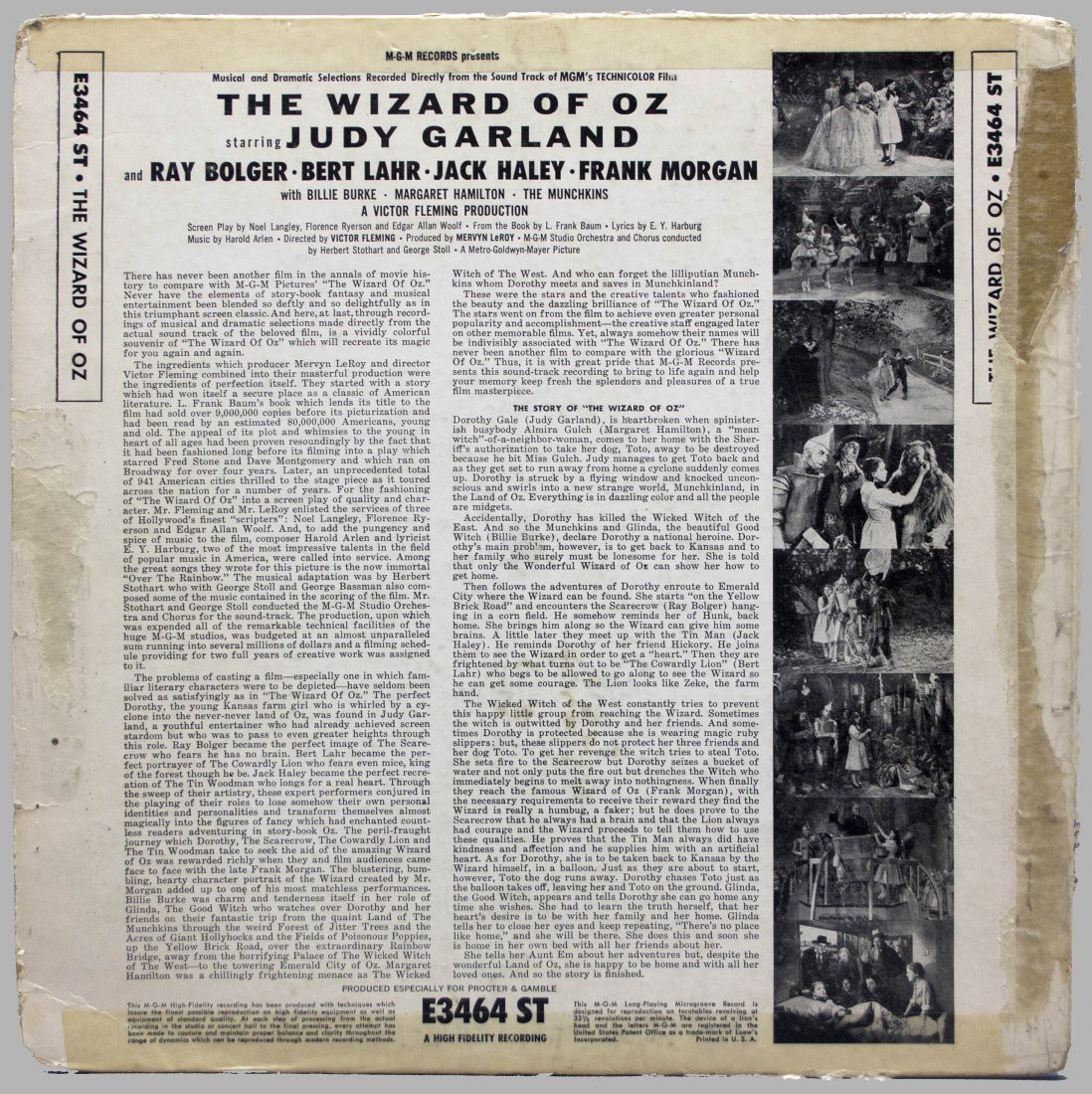 Signed by 6 actors: THE WIZARD OF OZ record album - 8