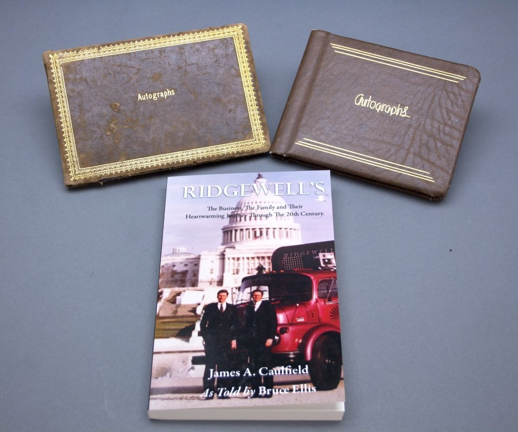 Ridgewell Catering Guestbook sgd by US Presidents