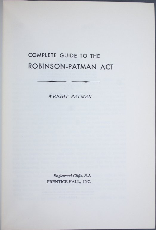 Franklin D. Roosevelt, Pen for Robinson-Patman Act - 3