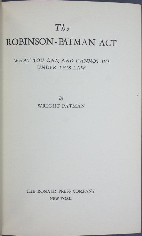 Franklin D. Roosevelt, Pen for Robinson-Patman Act - 5