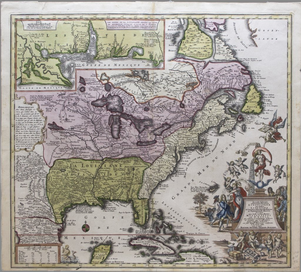 Seutter Map of N. America: ACCURATA DELINEATIO..