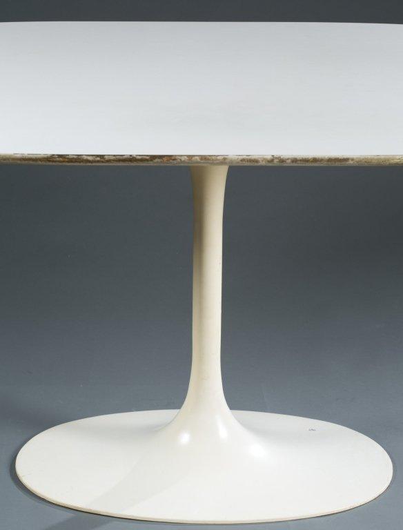 """An Eero Saarinen oval """"Tulip"""" table. - 2"""