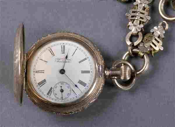 Ladies American Waltham Hunter Case Pocket Watch.