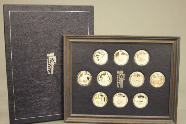 Franklin Mint Sterling Indian Tribal Nations.