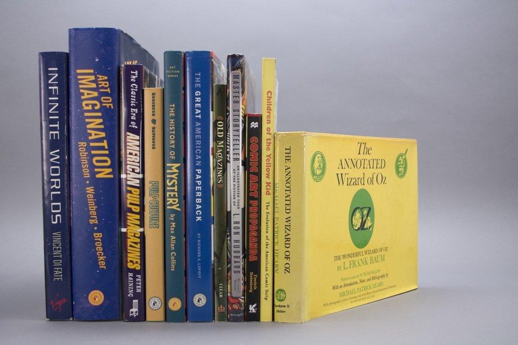26 Vols: Books on books, sci fi, illustrators. - 2