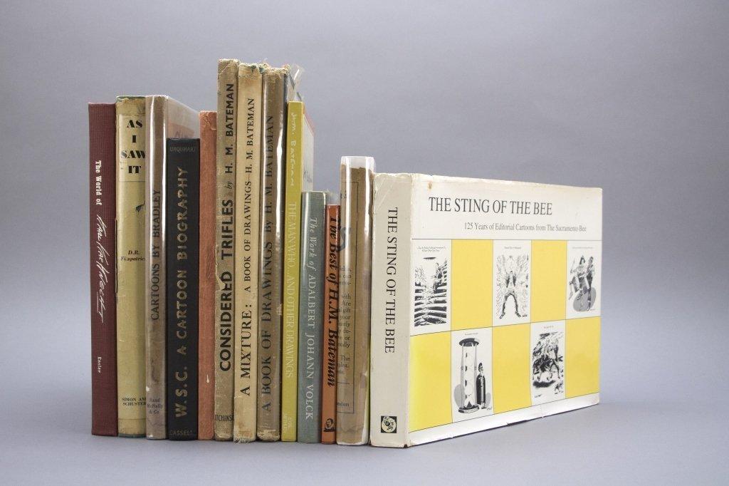 13 Vols: Bateman, Volck , Bradley, cartoonists.