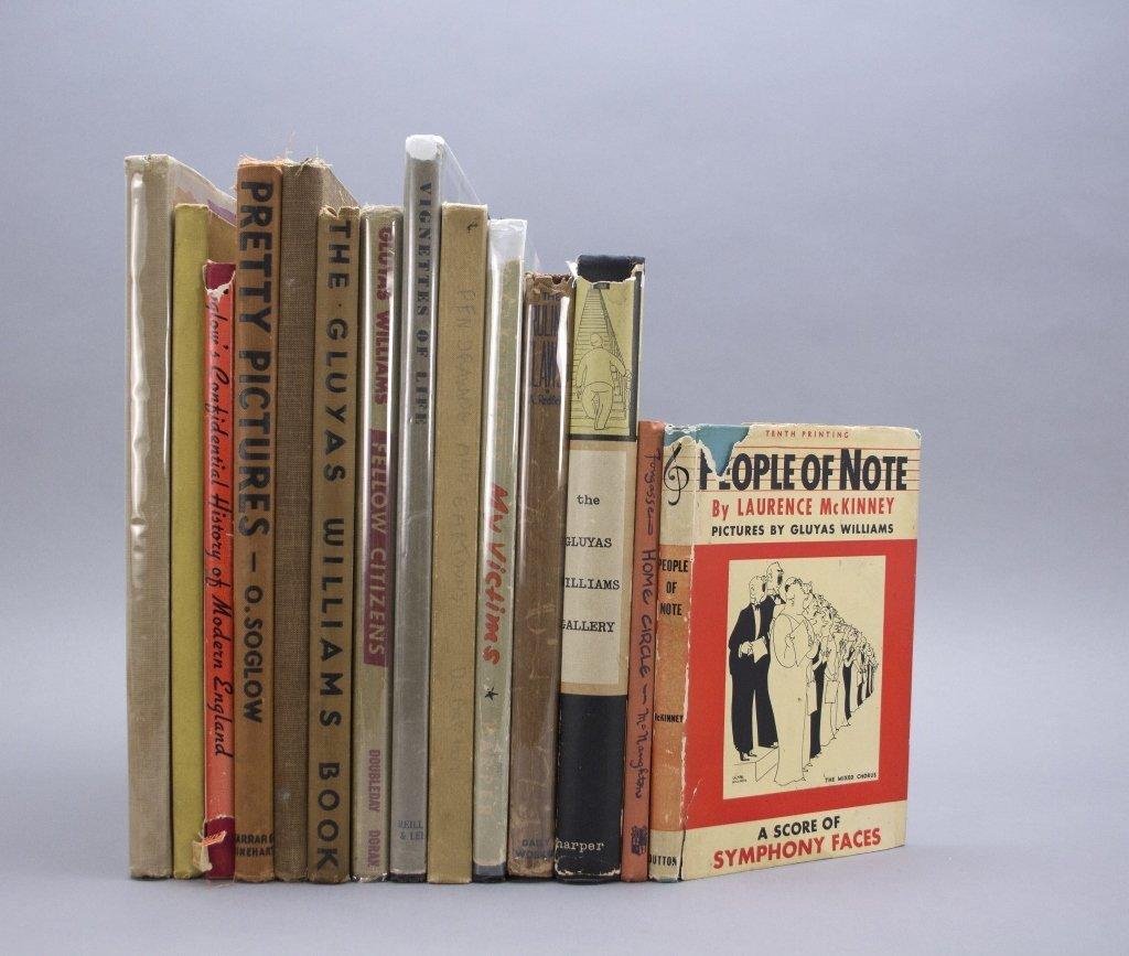 14 Vols: Soglow, Williams, Lynd, cartoonists.