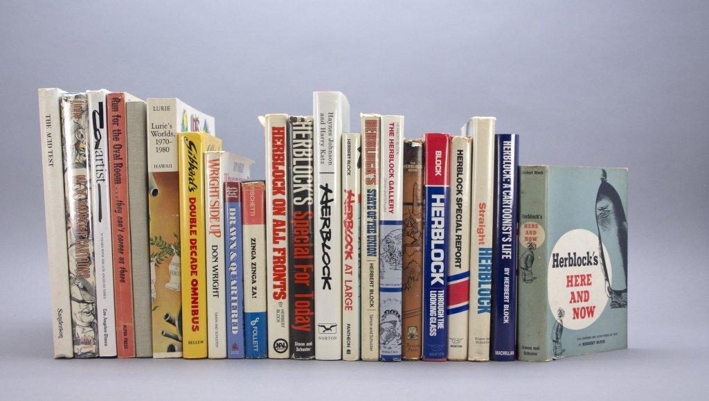 22 Vols: Herblock, Lurie, Sanderson, Conrad...