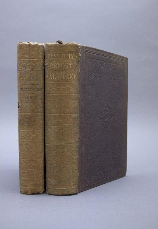 2 Books incl: Stansbury. EXPLORATION... GREAT SALT