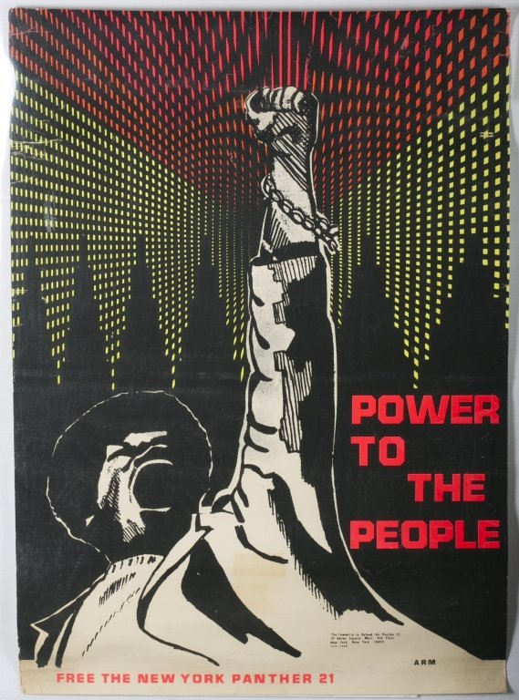 """BLACK PANTHER Poster: """"Free ... The Panther 21."""""""
