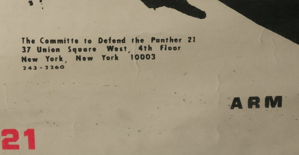 """BLACK PANTHER Poster: """"Free ... The Panther 21."""" - 4"""