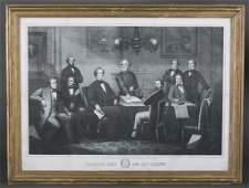 Kelly Litho Jefferson Davis  His Cabinet 1866