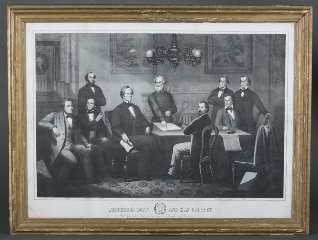 Kelly Litho: Jefferson Davis & His Cabinet, 1866.
