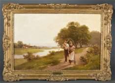 Henry Bates (H.B) Joel, Genre Scene. o/c. 1898.
