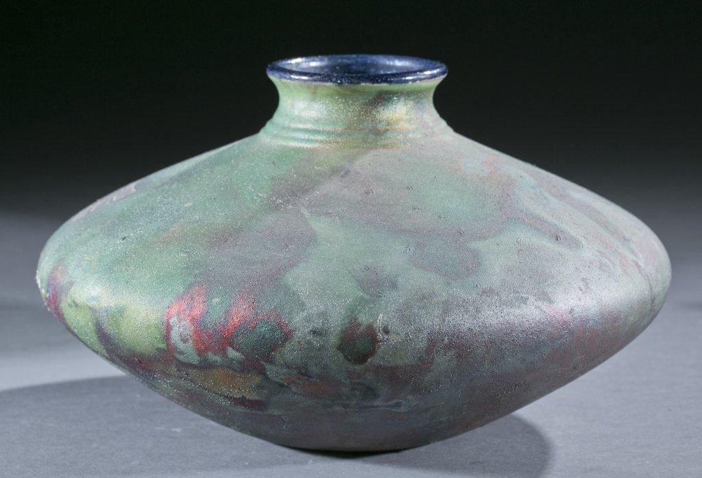 Pair of raku vases by Stephen Roy, 20th century. - 8