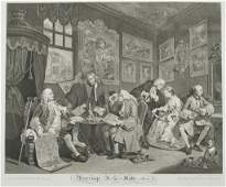 William Hogarth 6 Marriage a la Mode engravings