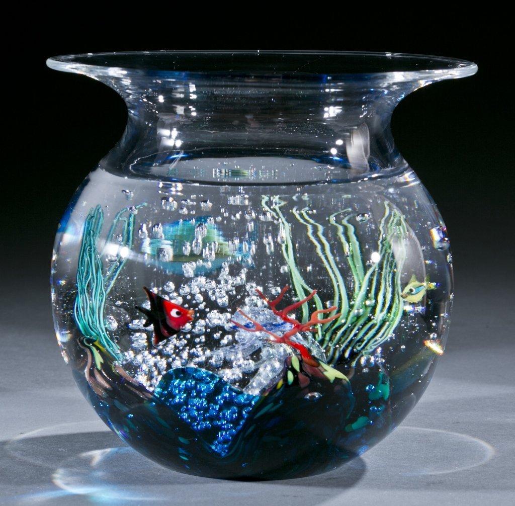 Oggetti Murano glass fishbowl by Elio Raffaeli