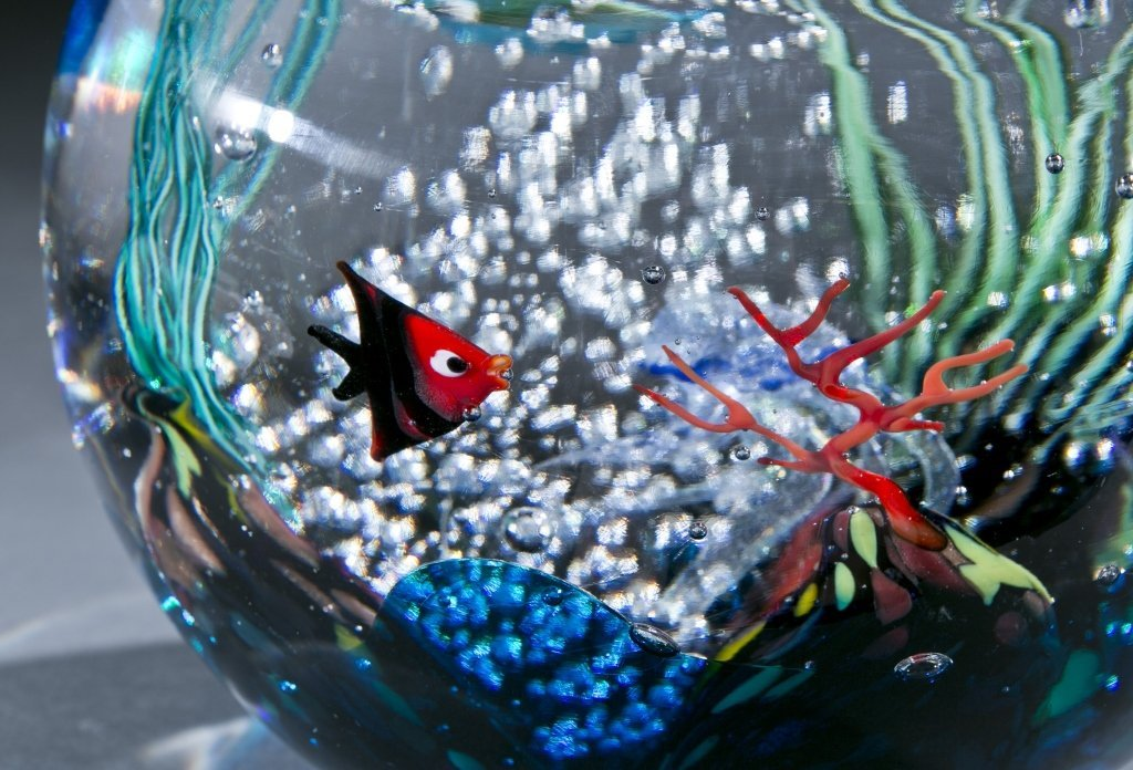 Oggetti Murano glass fishbowl by Elio Raffaeli - 2