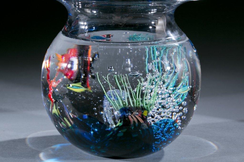 Oggetti Murano glass fishbowl by Elio Raffaeli - 4